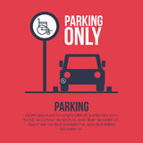2014 11 07 GR 778. Parking design over white background, vector illustration vector illustration
