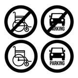 2014 11 07 GR 778. Parking design over white background, vector illustration Stock Image