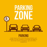 2014 11 07 GR 778. Parking design over yellow background, vector illustration stock illustration