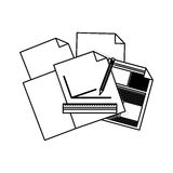 2016 12 06 GR 1612 A. Piece of paper icon. Document data archive office and information theme. Isolated design. Vector illustration Royalty Free Stock Image