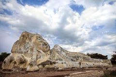 Gr?s antique Bouddha en parc historique d'Ayutthaya, emplacement de tourisme d'Ayutthaya pr?s de Bangkok, Tha?lande image stock