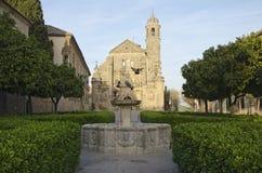 Gr Salvador Church, Ubeda, Spanje stock foto's
