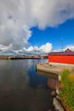 Gräsgårds Visserijhaven, Oland, Zweden Stock Foto's
