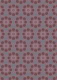 Grå sömlös bakgrund med en oval vid den rödbruna prydnaden för lutning Royaltyfria Bilder