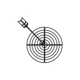 2016 12 06 GR 1612 A. Target icon. Solution success strategy and idea theme. Isolated design. Vector illustration Royalty Free Stock Image