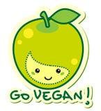 går veganen Arkivbild