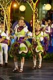 Graça område - den Lissabon festligheter, populära gamla Neighbourhoods ståtar Royaltyfria Bilder