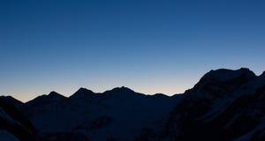 Grań na wschodzie słońca Zdjęcia Stock