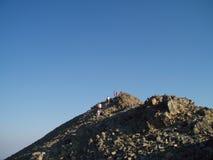 Grań biegacze na Sacajawea szczycie obraz stock