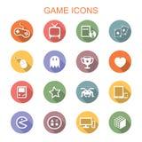 Gra cienia długie ikony ilustracji