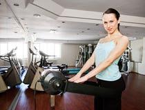 göra den vibratory kvinnan för massagesmiley Royaltyfria Foton