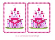 Gra dla dzieci: znajduje dziesięć różnic Obraz Royalty Free