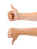 göra en gest händer två Arkivbilder