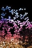 Gra główna rolę confetti na czerni zdjęcie royalty free