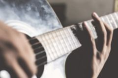 gra gitara Obrazy Stock