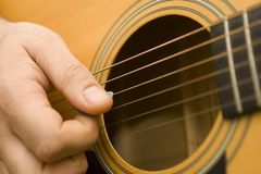 gra gitara Zdjęcia Stock