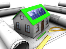 Göra grön huset Arkivbild
