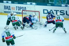 Gra hokej Fotografia Royalty Free