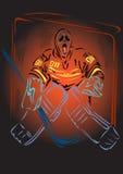 Gra hokej Obrazy Royalty Free