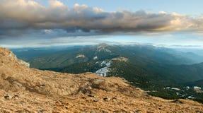 Grań i szczyt góra Goverla Obrazy Stock