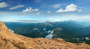 Grań i szczyt góra Goverla Obrazy Royalty Free