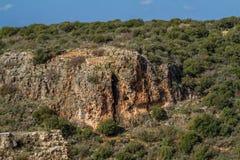 Góra krajobraz, Górny Galilee w Izrael Zdjęcia Stock