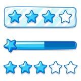 Gra menu gwiazdy postępu lodowy bar Obraz Stock