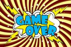 Gra Nad Komicznymi efektami dźwiękowymi w wystrzał sztuki stylu ilustracji