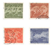 gra niemieccy starych olimpijskich znaczków Zdjęcie Royalty Free