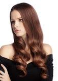 Göra perfekt hår Arkivfoton