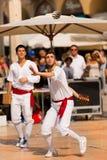 Gra piłka z bransoletką - Treia Włochy Zdjęcia Stock
