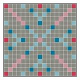 Gra planszowa robi słowom od listu Scrabble ilustracja wektor