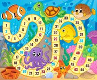 Gra planszowa wizerunek z podwodnym tematem 1 Obrazy Royalty Free
