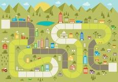 Gra planszowa z blokową ścieżką Zdjęcie Royalty Free
