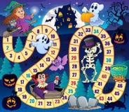 Gra planszowa z Halloweenowym tematem 1 ilustracji