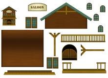 Gra planszowa - zabawa budować - ilustracja dla dzieci ilustracja wektor