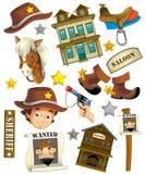 Gra planszowa - zabawa budować - ilustracja dla dzieci Obrazy Royalty Free