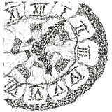 göra sammandrag forntida b klockan stylized w Royaltyfria Bilder
