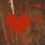 Göra sammandrag hjärta med grungedesign. Royaltyfri Foto