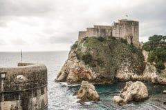 Gra tronu kasztel w Dubrovnik, Chorwacja zdjęcia stock
