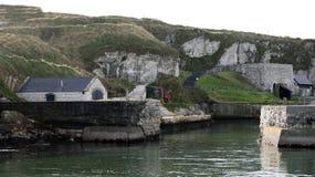 Gra tronu Pyke wyspy Ballintoy schronienie N Irlandia Zdjęcie Stock
