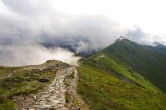 Grań w chmurach gór tatra western Obraz Royalty Free