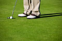 gra w golfa Obrazy Stock