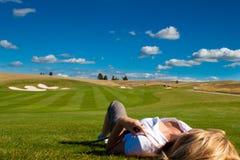 grać w golfa seksownego Obrazy Stock