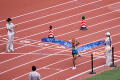gra w maratonie ludzi klasy s paralympic t46 Obrazy Royalty Free