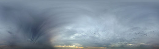 360 graad naadloze hemel Royalty-vrije Stock Afbeelding