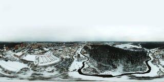 360-graad panoramische luchtmening van Chertanovo-district, Moskou Royalty-vrije Stock Foto's