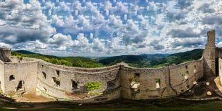 360-graad panoramische luchtmening van hommel aan de Vogezen-bergen Stock Fotografie
