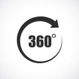 360 graad vectorpictogram vector illustratie