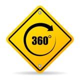 360 graad vectorteken royalty-vrije illustratie